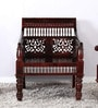 Vitasta Handcrafted Solid Wood One Seater Sofa in Passion Mahogany Finish by Mudramark