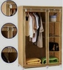 Powder Coated Steel & Pp Plastic Foldable & Portable Wardrobe with Non Woven Cloth Cover by Viva