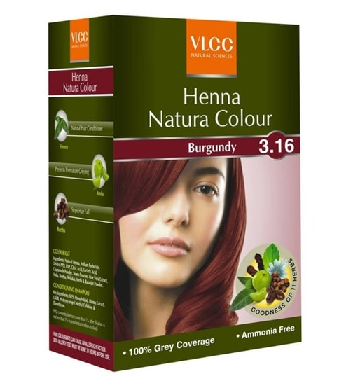 Vlcc Henna Natura Color Burgundy By Vlcc Online Hair Colors