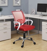 Voom Ergonomic Chair in Red Colour