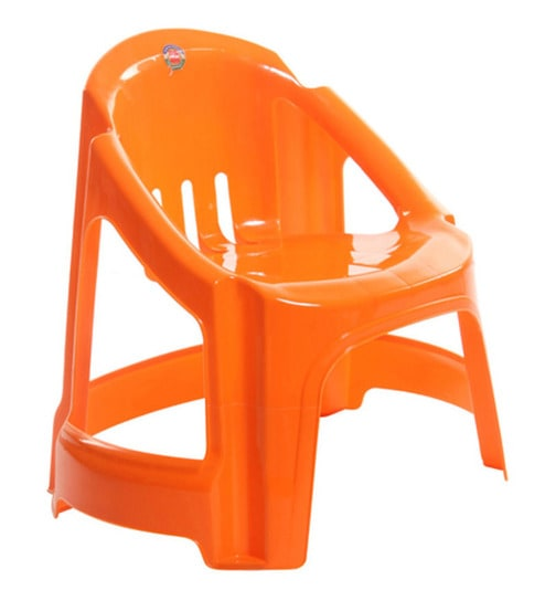 Captivating Volvo Kids Chair Set Of Two In Orange Colour By Cello