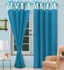 Vorhang Blue Polyester Abstract Door Curtain - Set of 2