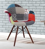 Warren Accent Chair with Patchwork in Multicolour