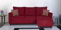 Walden Left Handed Three Seater Lounger in Maroon Colour