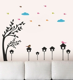Wall Stickers Bird Homes Under the Sky WallTola at pepperfry