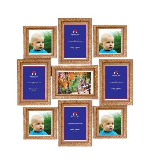 Wall Art Decor Pretty Antique Gold Collage Photo Frames by Wall Art ...
