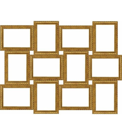 Wall Art Decor Antique Gold Collage Photo Frames by Wall Art Decor ...