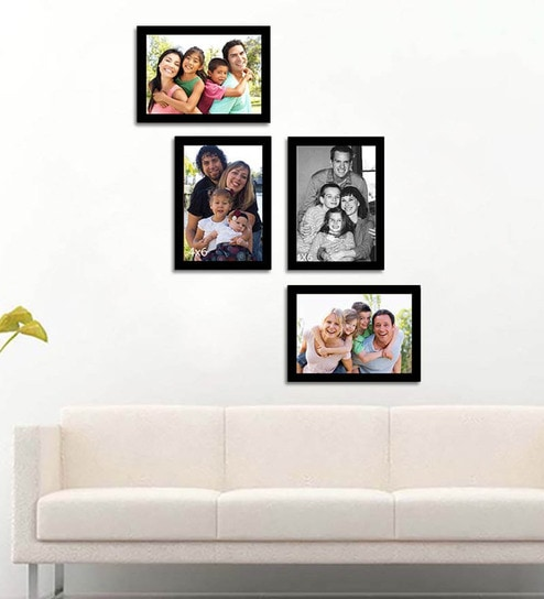 Buy Wall Collage black Fibre Wood Photo Frame by Art Street Online ...