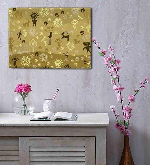 Buy Canvas 24 X 18 Inch Warli Art Frame Framed Digital Art Print By