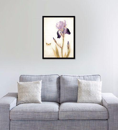 Buy Canvas 18 x 24 Inch The Purple Flower Framed Digital Art Print ...