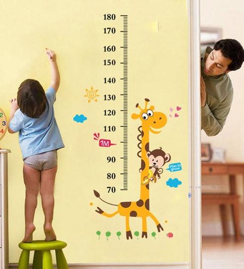 buy walltola pvc vinyl kids giraffe height chart removable wall