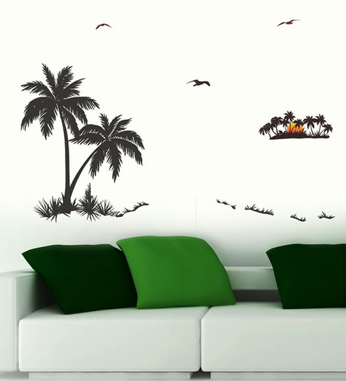 PVC Vinyl Palm Trees Wall Sticker By WallTola