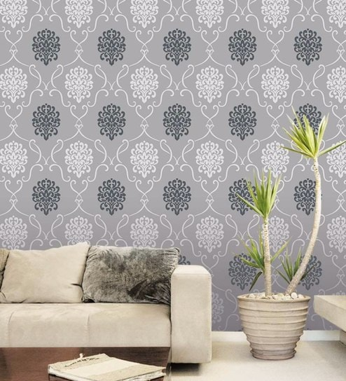 Grey Non Woven Paper The Mughal Inspiration Wallpaper By Wallskin