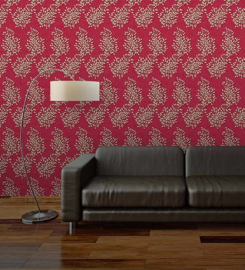 Buy Custom Designer Wallpapers In Sydney: Buy Maroon Non Woven Paper The Dandelion Wall Wallpaper By