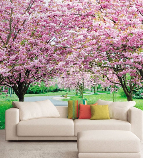 Buy pink non woven paper flower trees wallpaper by wallskin online pink non woven paper flower trees wallpaper by wallskin mightylinksfo