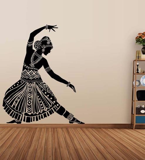 Vinyl Indian Dancing Silhouette Wall Sticker By Wallskin