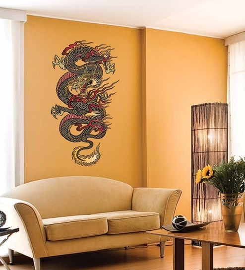 Buy Vinyl The Chinese Dragon Wall Sticker by Wallskin Online ...