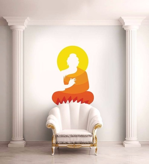 Vinyl The Colours Of Buddha Wall Sticker By Wallskin