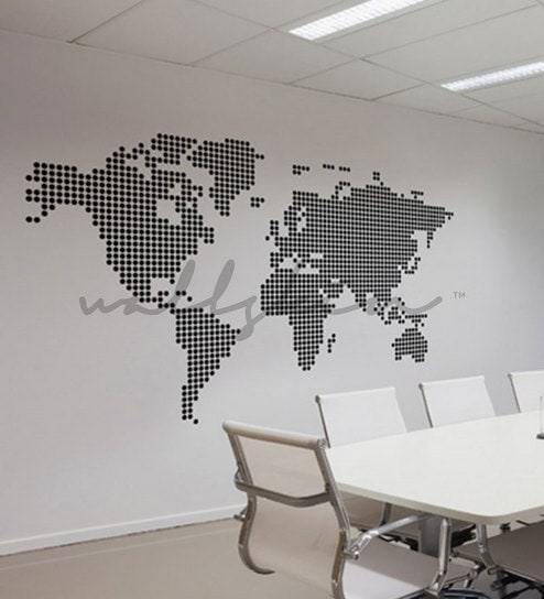 Buy wallskin world map vinyl wall sticker decal online other wallskin world map vinyl wall sticker decal gumiabroncs Image collections