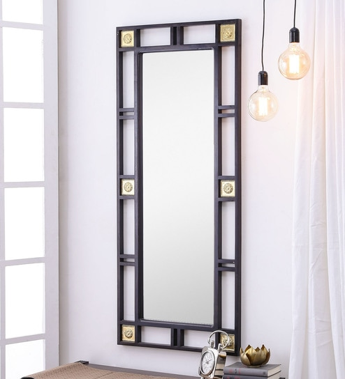 Buy Dax Rectangular Wall Mirror in Solid Wood Frame by DHI Online ...