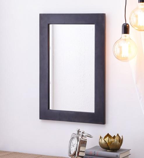 Warm Chestnut Sheesham Wood Rajputana Handcrafted Wall Mirror