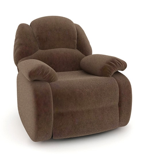 wayne single seater fabric recliner in black by housefull online