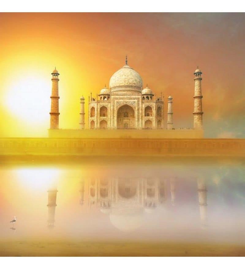 Wall Decor Breathtaking Taj Mahal Canvas Painting by Wall Decor ...