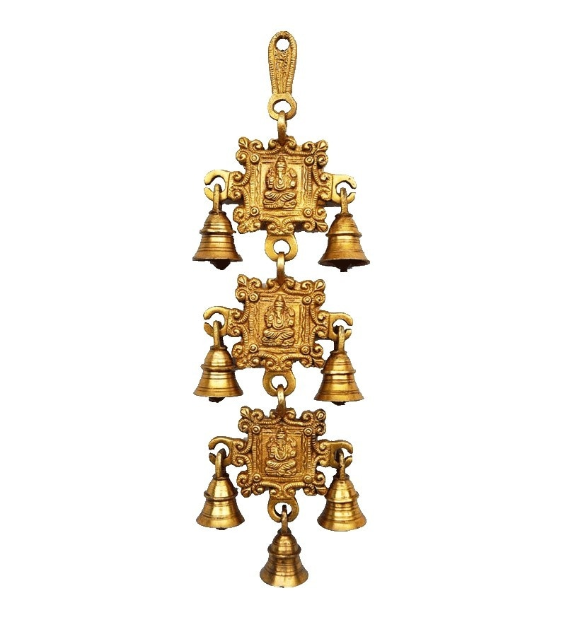 Bells Gold Brass Wall Hanging by Aakrati Ashopi