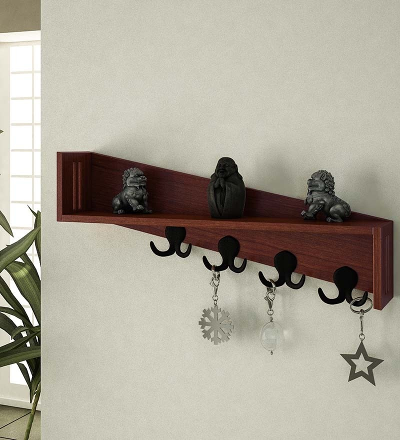 Buy Wall Shelf With Key Holder Online Modern Wall