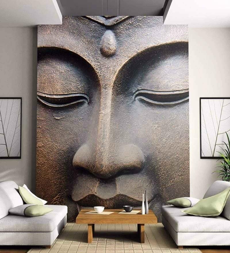 Copper Non Woven Paper Buddha in Copper Wallpaper by Wallskin