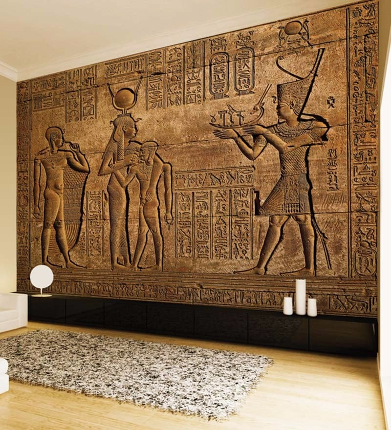 Copper Non Woven Paper Egyptian Copper Wallpaper by Wallskin