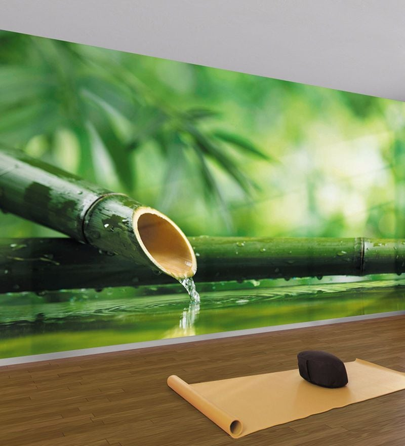 Green Non Woven Paper The Forest Spa Wallpaper by Wallskin