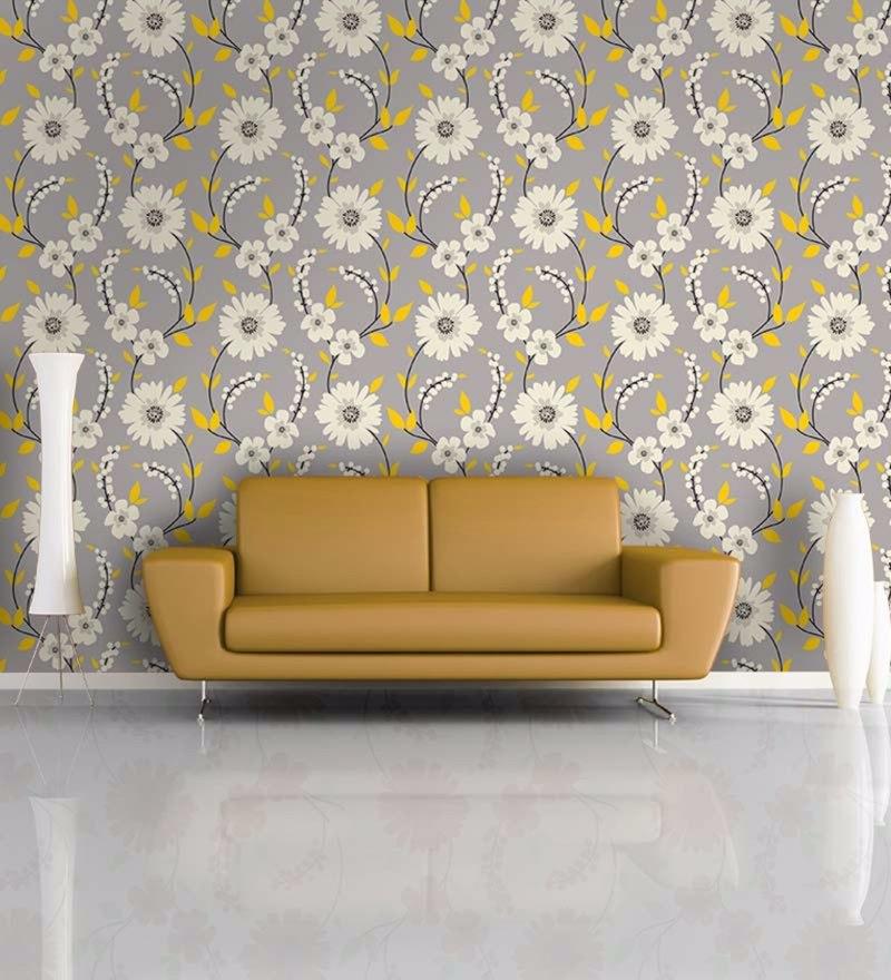 Multicolour Non Woven Paper The Flower Wall Wallpaper by Wallskin