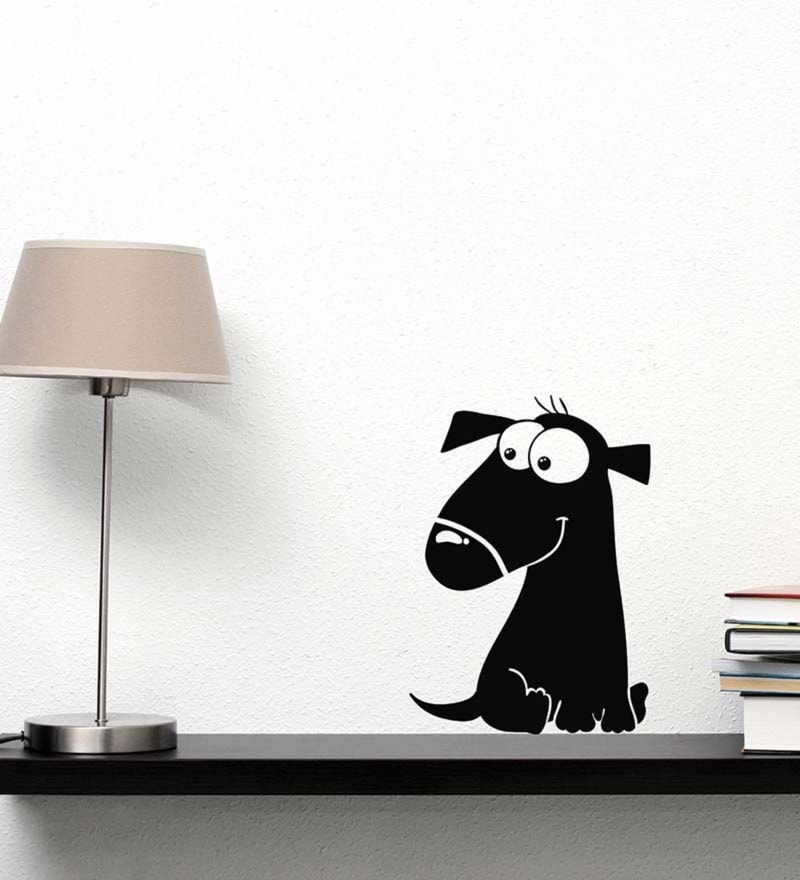 Vinyl Cute Smiling Dog Wall Decal by Wallskin
