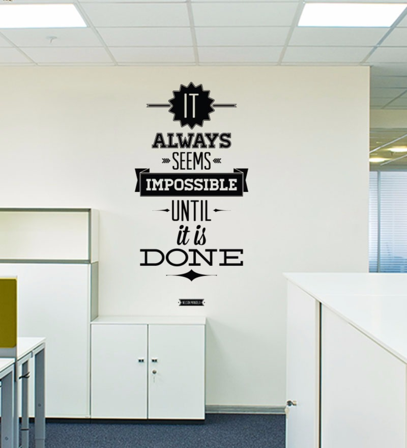 Vinyl Impossible Until Done Wall Decal by Wallskin