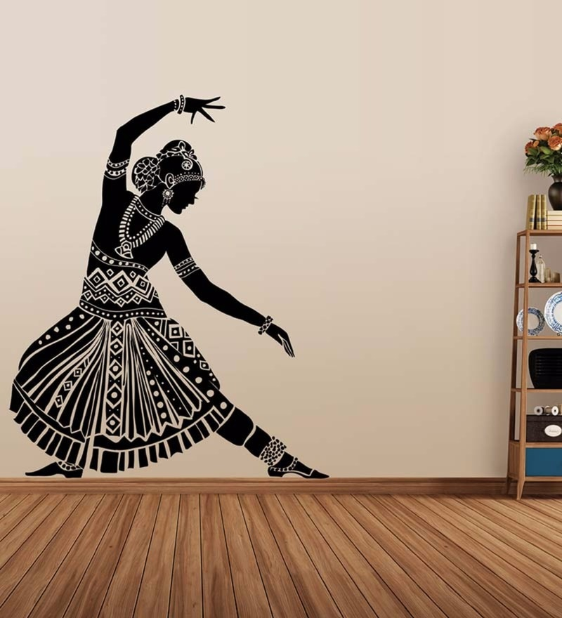 Vinyl Indian Dancing Silhouette Wall Decal by Wallskin