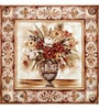 Wall Decor Canvas 24 x 24 Inch Antique Flower Vase with Border Frame Framed Digital Art Print