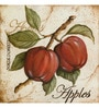 Wall Decor Canvas 24 x 24 Inch Apples Framed Digital Art Print