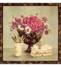 Wall Decor Canvas 24 x 24 Inch Bowl of Flowers Framed Digital Art Print