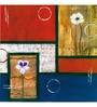Wall Decor Canvas 24 x 24 Inch Floral Abstract Framed Digital Art Print