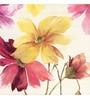 Wall Decor Canvas 24 x 24 Inch Floral Framed Digital Art Print