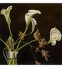 Wall Decor Canvas 24 x 24 Inch Flower In Vase Framed Digital Art Print