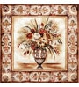 Wall Decor Canvas 24 x 24 Inch Flower Vase with Border Framed Digital Art Print