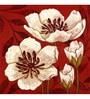 Wall Decor Canvas 24 x 24 Inch Flowers Framed Digital Art Print