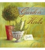 Wall Decor Canvas 24 x 24 Inch Garden Herbs Framed Digital Art Print