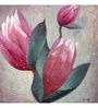 Wall Decor Canvas 24 x 24 Inch Pink Lotus Framed Digital Art Print