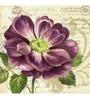 Wall Decor Canvas 24 x 24 Inch Purple Flower Framed Digital Art Print