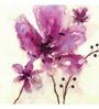 Canvas 24 x 24 Inch Violet Flowers Framed Digital Art Print by Wall Decor