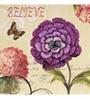 Wall Decor Multicolor Canvas 24 x 24 Inch Purple Flower Postcard Framed Digital Art Print