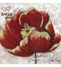 Wall Decor Red Canvas 24 x 24 Inch Flower Framed Digital Art Print
